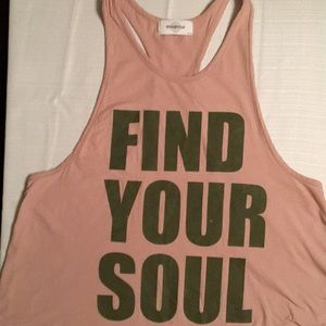 SOULCYCLE RASE BACK TANK TOP Sz S